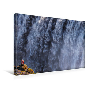 Premium Textil-Leinwand 45 cm x 30 cm quer Fotograf am Dettifoss
