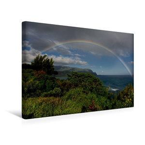 Premium Textil-Leinwand 45 cm x 30 cm quer Regenbogen über der H