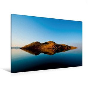 Premium Textil-Leinwand 120 cm x 80 cm quer Lake Argyle