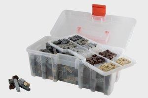 Bausteine Maxi Mix Box 650 Teile in Architektur Farben in prakti