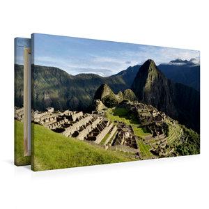 Premium Textil-Leinwand 90 cm x 60 cm quer Machu Picchu - Die In