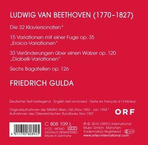 Sämtliche Klaviersonaten 1-32 (GA)/Variation.+Bag.