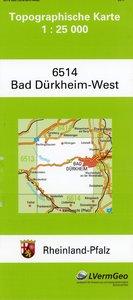 Bad Dürkheim West 1 : 25 000
