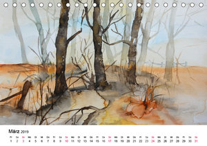 Mit Aquarellen durch das Jahr (Tischkalender 2019 DIN A5 quer)