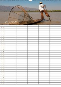 Goldenes Myanmar - Familienkalender 2018