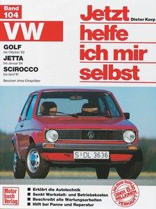 VW Golf bis Okt. 83, Jetta bis Jan. 84, Scirocco bis April 81. J