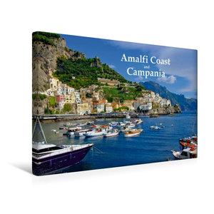 Premium Textil-Leinwand 45 cm x 30 cm quer Amalfiküste