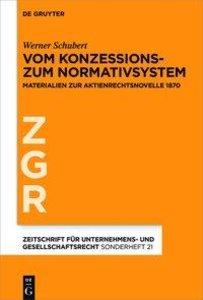 Vom Konzessions- zum Normativsystem