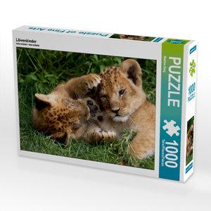 Löwenkinder 1000 Teile Puzzle quer