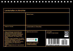 Landschaften im Altmühltal (Tischkalender 2019 DIN A5 quer)