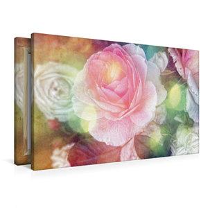 Premium Textil-Leinwand 90 cm x 60 cm quer Vintage Rose