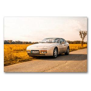 Premium Textil-Leinwand 90 cm x 60 cm quer Porsche 944 S2 in her