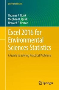 Excel 2016 for Environmental Sciences Statistics