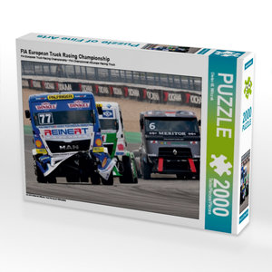 FIA European Truck Racing Championship 2000 Teile Puzzle quer