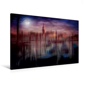 Premium Textil-Leinwand 120 cm x 80 cm quer City-Art VENEDIG Gon