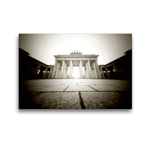 Premium Textil-Leinwand 45 cm x 30 cm quer Brandenburger Tor