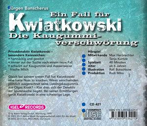Ein Fall für Kwiatkowski. Die Kaugummiverschwörung. CD