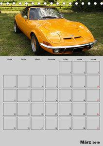 Opel GT Terminplaner (Tischkalender 2019 DIN A5 hoch)