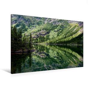 Premium Textil-Leinwand 120 cm x 80 cm quer Lake O\'Hara
