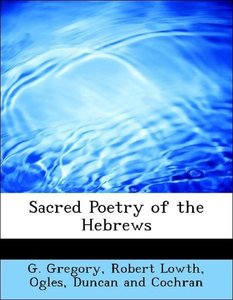 Sacred Poetry of the Hebrews