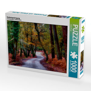 Herbstspaziergang 1000 Teile Puzzle quer