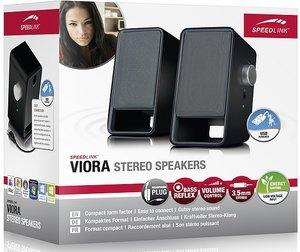 Speedlink VIORA Stereo Lautsprecher, schwarz