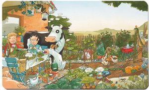Lieselotte Frühstücksbrettchen mit Gartenmotiv