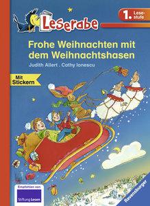 Frohe Weihnachten mit dem Weihnachtshasen