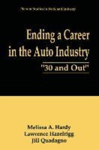 Ending a Career in the Auto Industry