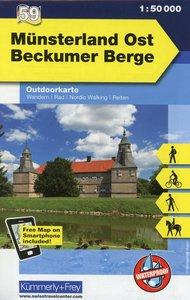 KuF Deutschland Outdoorkarte 59 Münsterland Ost 1 : 50 000
