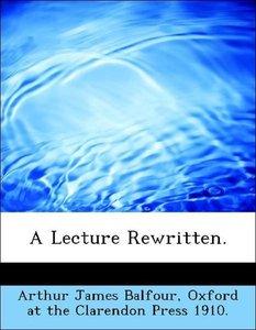 A Lecture Rewritten.