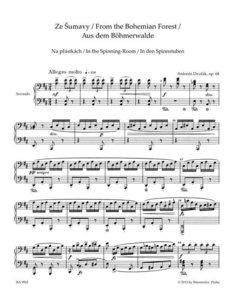 Aus dem Böhmerwalde für Klavier zu vier Händen op. 68