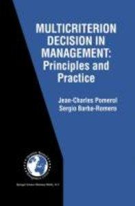 Multicriterion Decision in Management