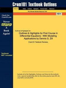 Outlines & Highlights for First Course in Differential Equations