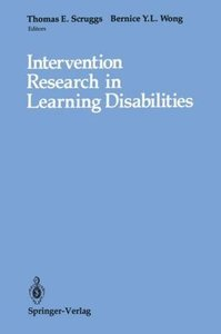 Intervention Research in Learning Disabilities