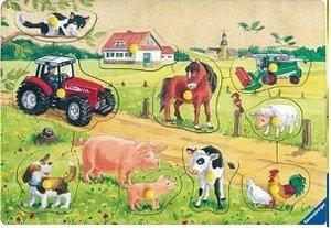 Kunterbunter Bauernhof. Holzpuzzle 10 Teile