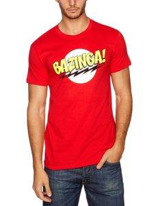 Big Bang Theory - Bazinga! - T-Shirt - Rot - Größe M