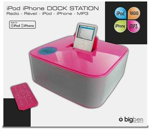 Dock Station ST01 für iPod/iPhone - pink