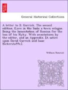 A letter to D. Garrick. The second edition. (Love in the Suds; a