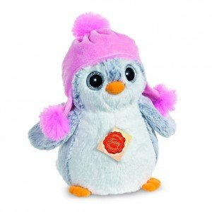 Teddy Herrmann 90024 - Pinguin mit Mütze rosa