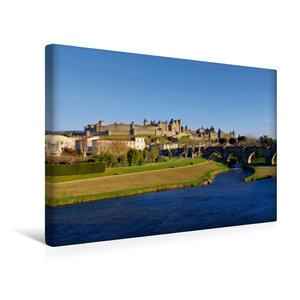 Premium Textil-Leinwand 45 cm x 30 cm quer Cité de Carcassonne