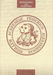 Die Professoren und Dozenten der Friedrich-Alexander-Universität