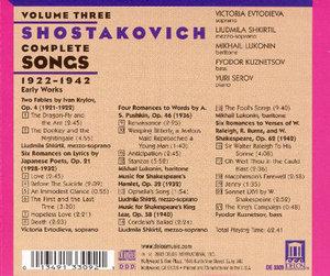 Shostakovich Lieder Vol.3