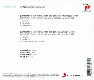 Mozart: Piano Quartets, K. 493 & K. 478
