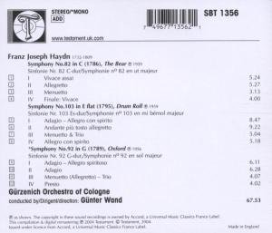 Sinfonien 82,92 & 103