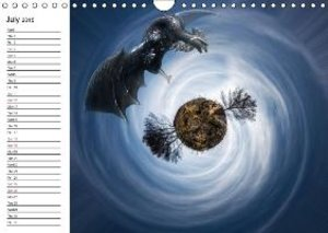 The small planets (Wall Calendar 2015 DIN A4 Landscape)