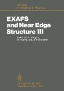 EXAFS and Near Edge Structure III