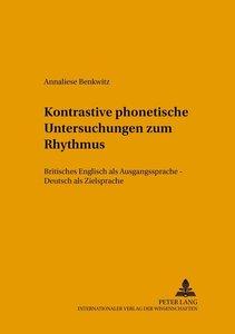 Kontrastive phonetische Untersuchungen zum Rhythmus