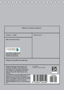 Wildtiere Bunstiftkunst-Kalender