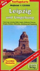 Ausflugskarte Leipzig und Umgebung 1:125000